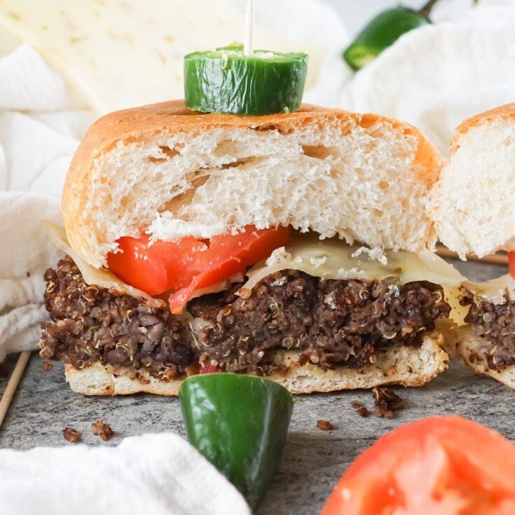 black bean quinoa burgers 13