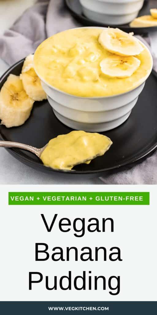 vegan banana pudding